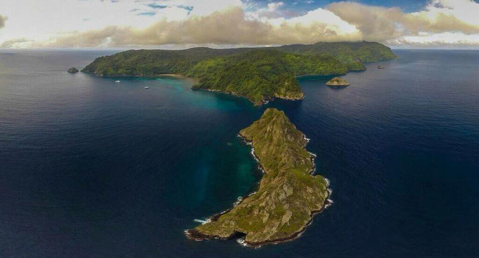 Cocos Island aerial view