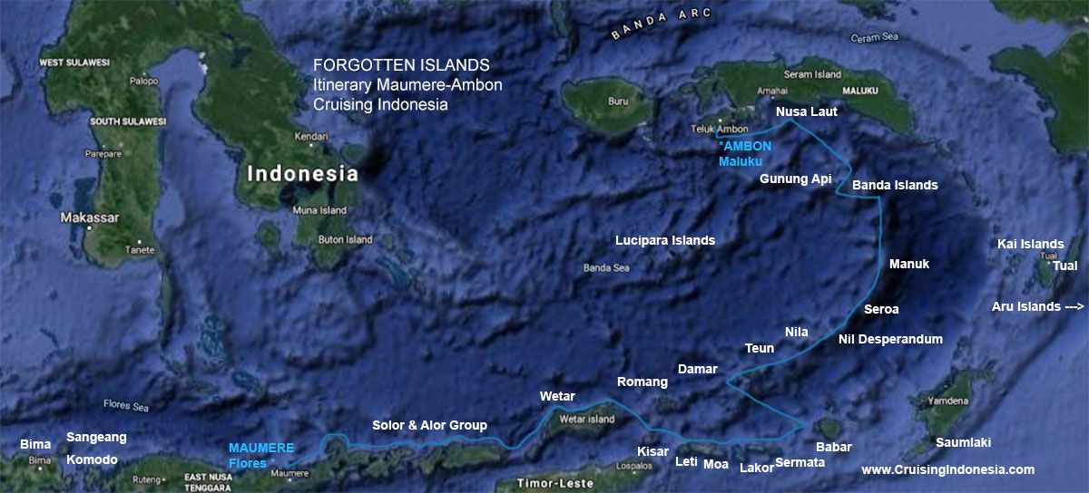 Forgotten Islands all itinerary from Maumere to Ambon