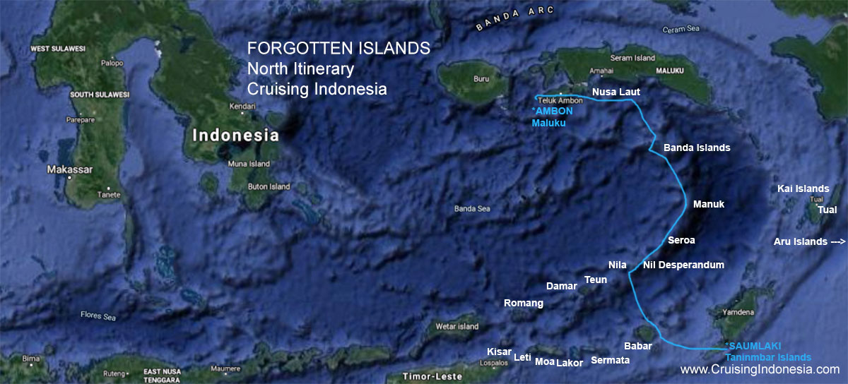 Forgotten Islands itinerary north