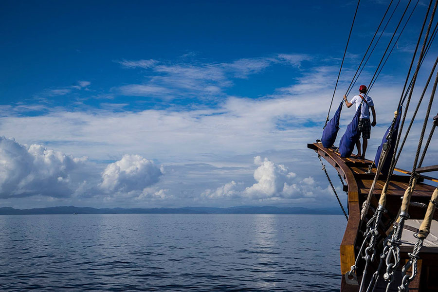 private cruises and charters on a timeless phinisi liveaboard