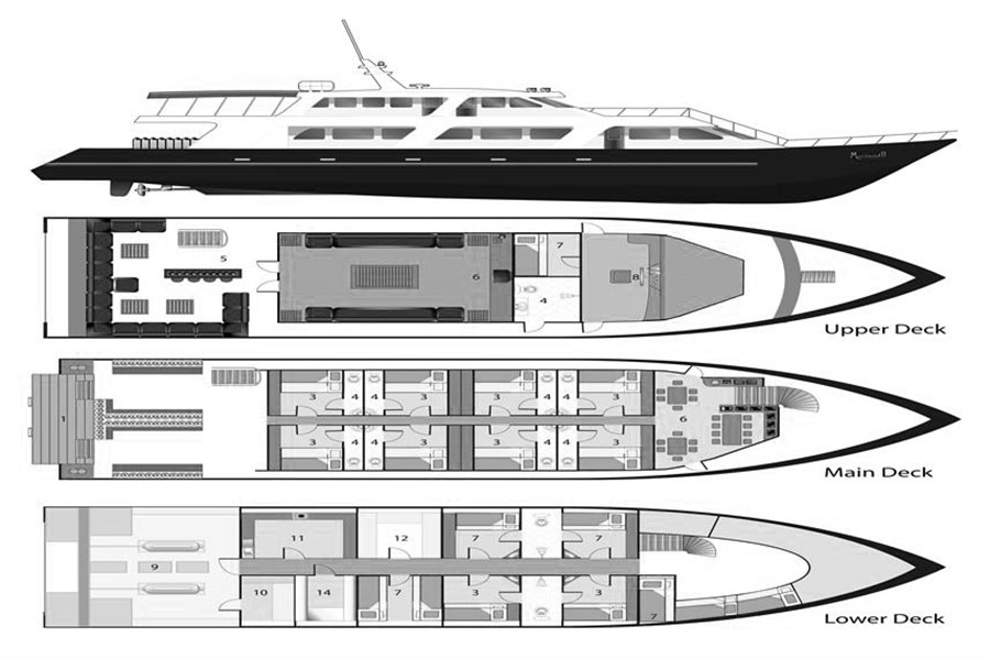 Mermaid II Liveaboard Layout