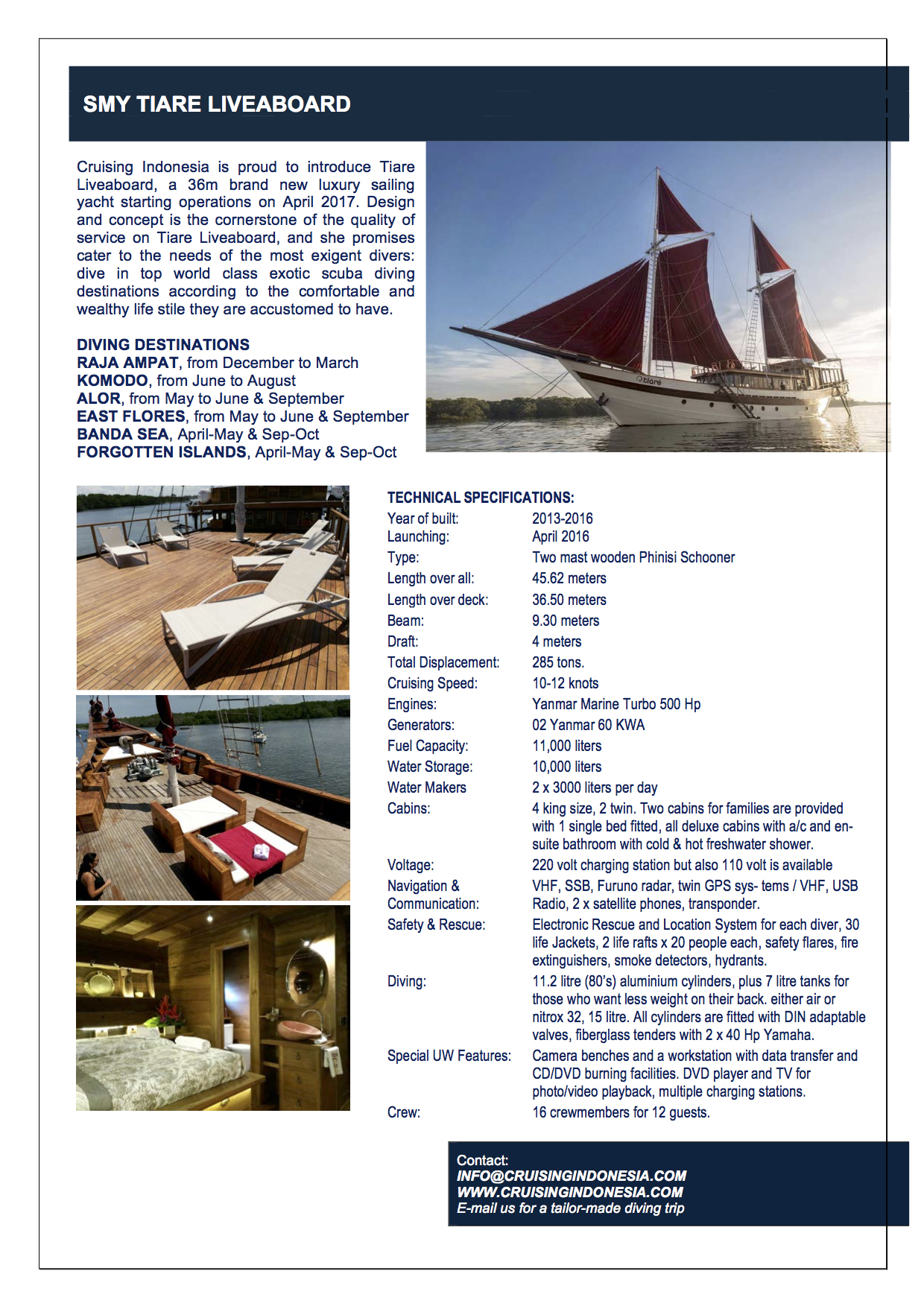 tiare_liveaboard_technical_data
